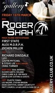 Matt Church at The Gallery Pres. Roger Shah - Magic Island Ep. 200, LIVE on DI.FM, Ministry Of Sound (Flyer Front)