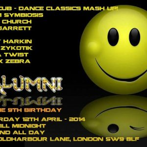 Matt Church at Alumni's 9th Birthday, Club 414 (Flyer Front)