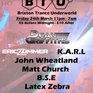 Matt Church at Brixton Trance Underworld, Club 414 (Flyer Front)