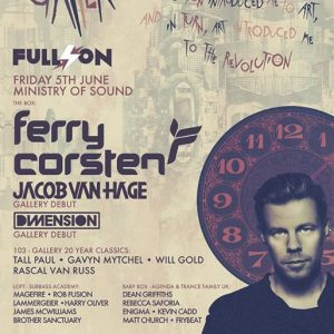 Matt Church at Ferry Corsten, Ministry Of Sound (Flyer Front)
