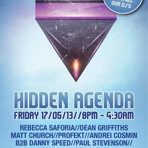 Matt Church at Hidden Agenda, Grind (Flyer Front)