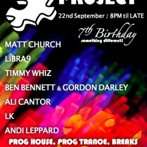 Matt Church at Puzzle Project's 7th Birthday!!, Raving Buddha (Flyer Front)