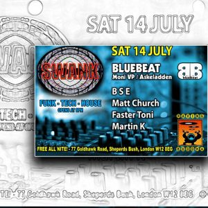 Matt Church at Swank, Raving Buddha (Flyer Front)